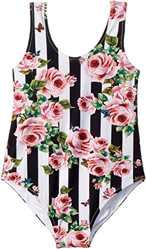 Dolce & Gabbana Kids Baby Girl's Swimsuit One-Piece (Toddler/Little Kids) Stripe Rose 4T by Dolce & Gabbana