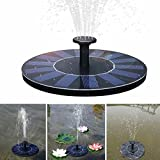 XHSP Solar Fountain Pump 1.4W Submersible Solar Outdoor Water Fountain Panel Kit for Bird Bath Small Pond Fish Tank Garden and Lawn