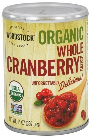Woodstock Organic Whole Berry Cranberry Sauce, 14 Ounce - 24 per case. by Woodstock