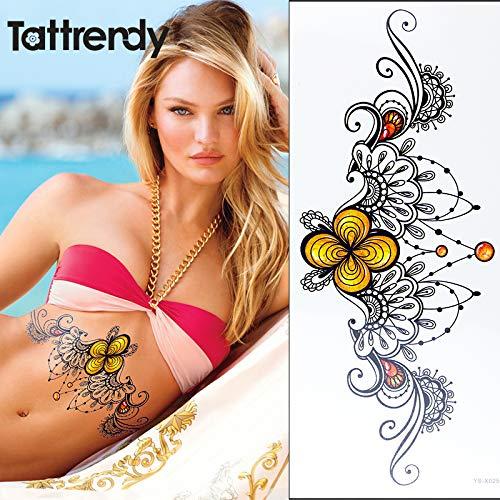 tzxdbh Esternón Tatuaje Temporal Bajo el Pecho Patrón de ...