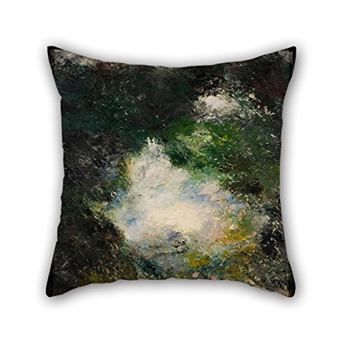 MaSoyy 16 X 16 Inches / 40 by 40 cm Oil Painting August Strindberg - Wonderland Cushion Covers Two Sides is Fit for Girls Office Teens Boys Sofa Dinning Room -