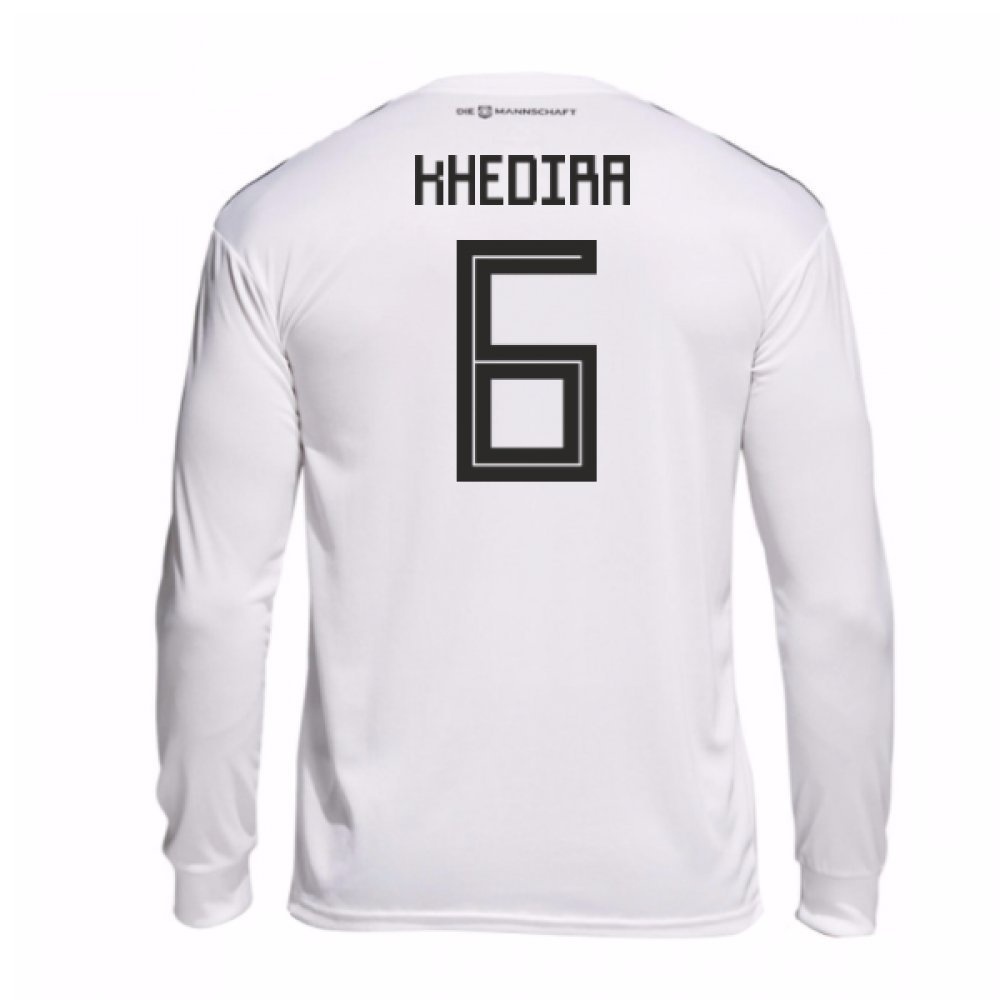2018-19 Germany Home Long Sleeve Football Soccer T-Shirt Trikot (Sami Khedira 6)