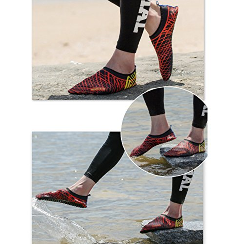 Shoes Barefoot Skin Oderola Red Aqua Adult Black Women's Yoga Kid's Exercise Swim Sports for Water Beach Men's Socks Surf YB4qBx0