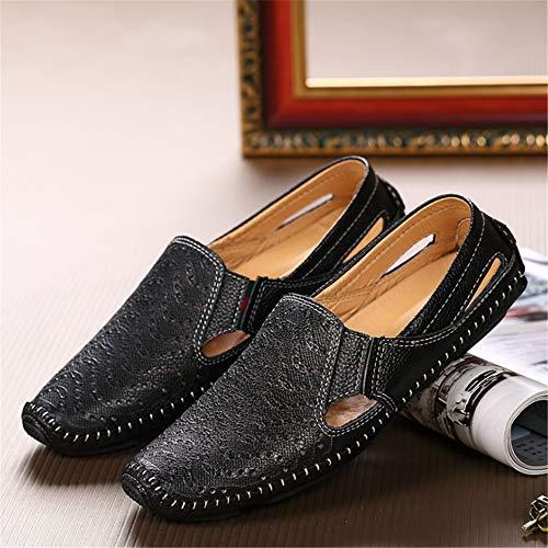 Negro 3 De Color Negros tamaño Al Casuales EU Los Zapatos De Aire De Playa Negro 44 Hombres Verano Libre Cómodos Sandalias Wangcui 2 wqBRSg