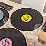 Out of the Blue Vinyl Record Placemat, Polypropylene, Multi-Colour