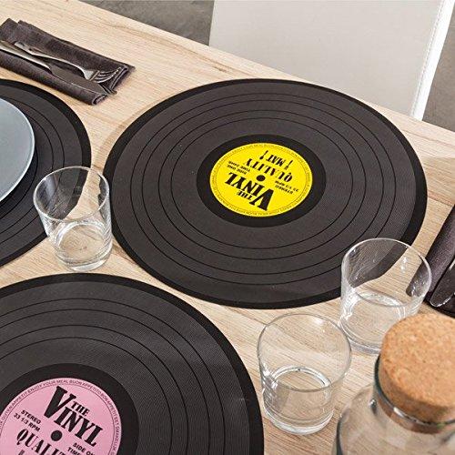 Sottopiatto-Disco-Retr-Disco-Vinile-Musica-Decorazione-Casa-3-Pezzi