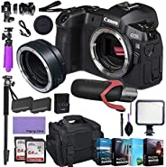 CanonEOS R Mirrorless Digital Camera (Body Only) and Mount Adapter EF-EOS R kit Bundled with Deluxe Accessori