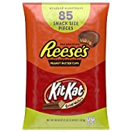 REESE'S and KIT KAT Bulk Halloween Candy, Individually Wrapped, 85 pieces