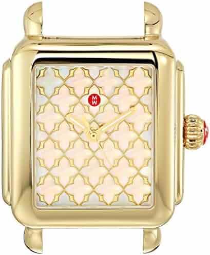 Michele Women's Swiss Quartz Stainless Steel Casual Watch, Color:Black (Model: MW06T00A9117)