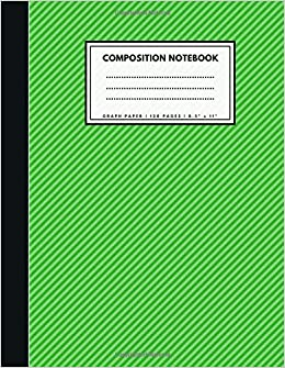 graph paper composition notebook 1 4 inch squares green soft