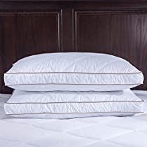 Puredown Goose Down Feather Pillows for Sleeping, Down Pillow, King, Cotton Pillow Cover for Side Sleeping