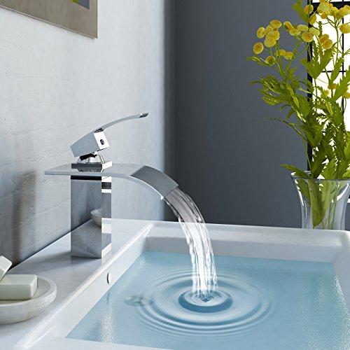 Aquamarin Rubinetto miscelatore lavabo lavandino bagno a cascata ...