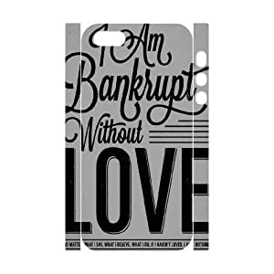 3D Bankrupt Love iPhone 5,5S Case Protector For Girls, Case For Iphone 5s Nuud [White]