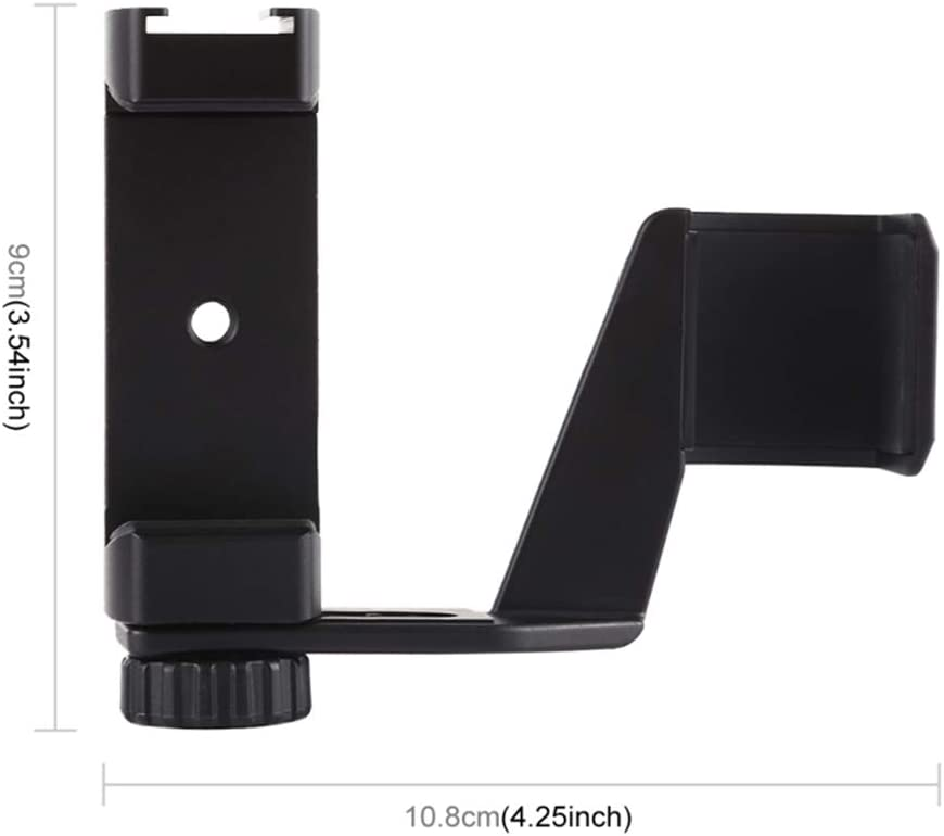 Fotga Clamp Holder Bracket for DJI OSMO Pocket Gimbal Smartphone with 1//4 Screw Mount and Hot Shoe Mount