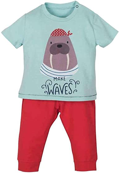 Conjunto de pijama para bebé de algodón orgánico, camiseta y pantalón – 3 – 24 meses Verde 74: Amazon.es: Ropa y accesorios