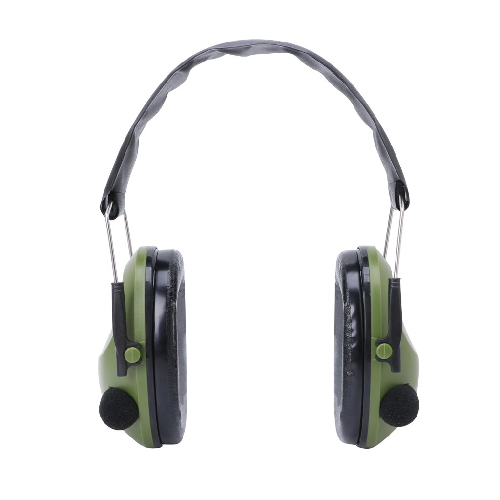 Noise Canceling Electronic Ear Muffs Sound Cancelling Headphones Safty Protection ear muffs For Sleeping Shooting Hunting Sport Tactical (Green)
