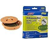 PIC 10 Piece Combo Terra Cotta Coil Burner Plus Extra Mosquito Repellent Coils
