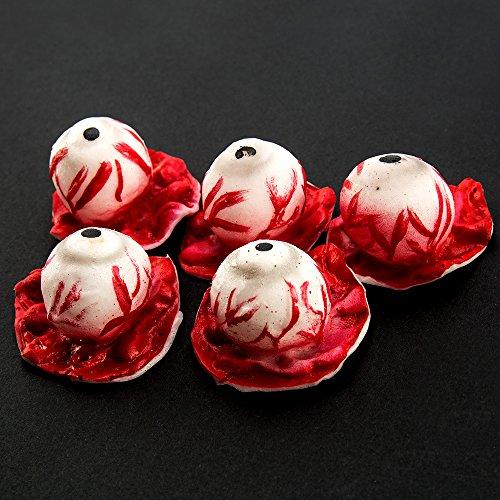 LITTLEGRASS Bloody Eyeballs Realistic Life Size Plastic Walking Dead ZOMBIE Halloween Horror Prop (Walking Dead Zombie Halloween)