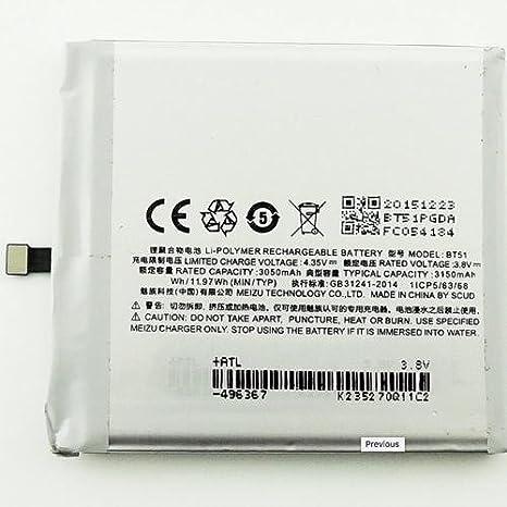 Todobarato24h Bateria MEIZU MX5, BT 51 3050 mAh Voltaje 3.8v BT 51: Amazon.es: Electrónica