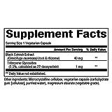 Natural Factors - WomenSense Womens Black Cohosh Extract 40mg, Menopausal Symptom Support, 90 Vegetarian Capsules