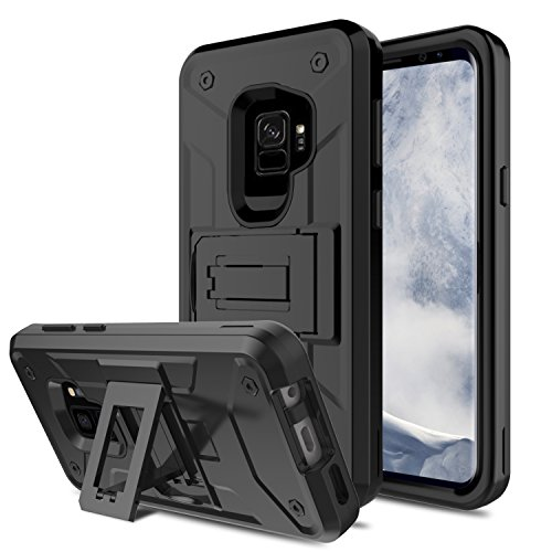 Galaxy S9 Case, Venoro Slim Shockproof Anti Scratch Hybrid Three Layer Rugged Bumper Defender Armor Protective Combo Case Cover for Samsung Galaxy S9 / SM-G960U / SM-G960F