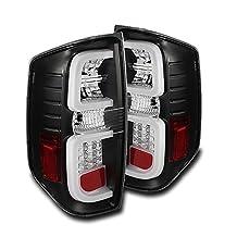 ZMAUTOPARTS Toyota Tundra LED Tube Tail Lights - Black