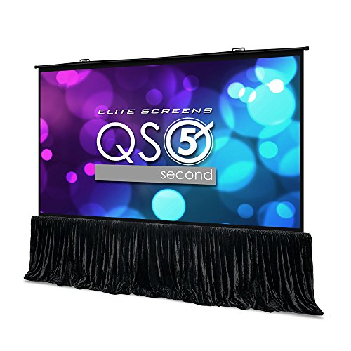- Elite Screens QuickStand 5-Second Series, 150-INCH 16:9, Manual Pull Up Projector Screen, Movie Home Theater 8K / 4K Ultra HD 3D Ready, 2-YEAR WARRANTY, QS150HD