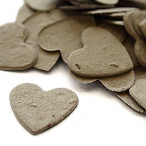 (Heart Shaped Plantable Seed Confetti (Stone Grey) - 350)