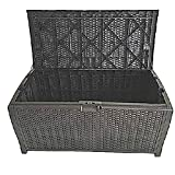 100 Gallon Outdoor Storage Box Wicker Patio Furniture Extra Large Garage Heavy Duty Big Deck Resin Bench Lock Container & eBook