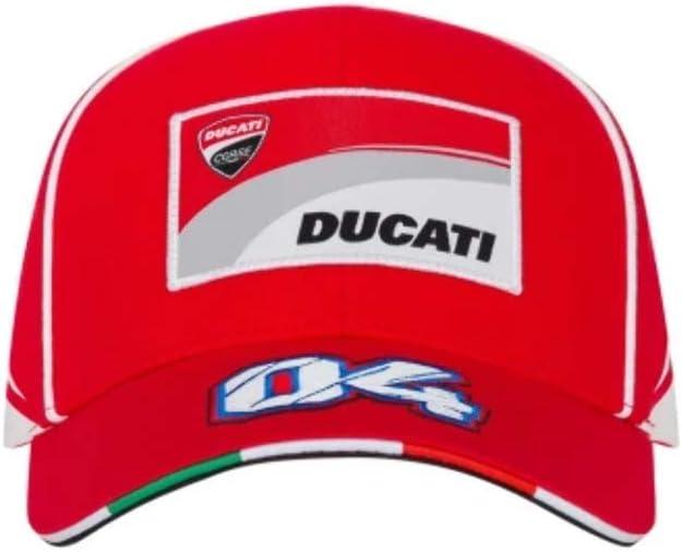 Cap Ducati Corse Racing Moto GP Andrea Dovizioso 04 Red Official Moto Gp collectio