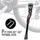 "iHomeGarden Bike Kickstand Adjustable Bicycle Kickstand - Bike Stand for 22""-26"" Road Bike/Mountain Bike - Aluminum Alloy Bike Kick Stand - Bicycle Accessories - Indoor Bike Storage"