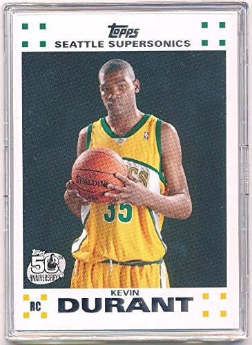 2007 Basketball - 2007 08 Topps Kevin Durant Seattle Sonics Rookie NBA Basketball Card #2