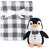 Hudson Baby Blanket with Plush Toy Set, Mr. Penguin, One Size
