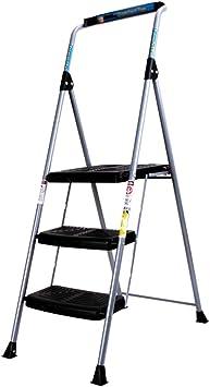 KJZ Escalera negra de tres escalones, Escalera plegable de metal de hotel Biblioteca de escalera plegable Escalera multifunción Estudio en casa Escalera Tamaño 45 * 6 * 155CM (Tamaño : 45*6*155CM) : Amazon.es: Bricolaje y herramientas