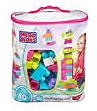 MATTEL Mega Bloks Big Building Bag, Pink, 80 Piece