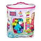 Mega Bloks 80-Piece Big Building Bag, Pink