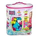 Mega Bloks 80-Piece Big Building Bag, Pink