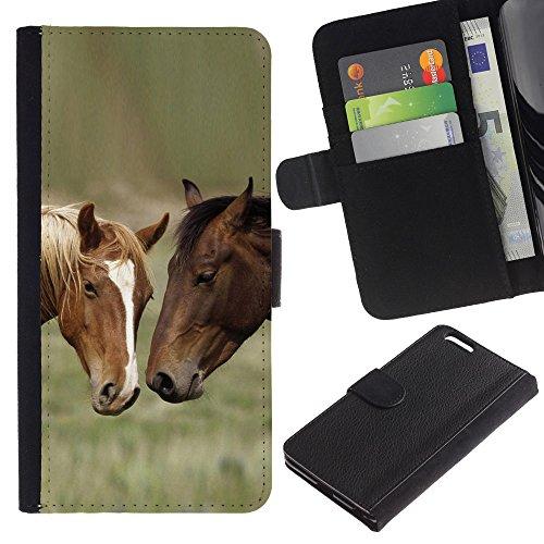 QCASE / Apple Iphone 6 Plus 5.5 / feu cheval créature mythologie art de conte de fées / Mince Noir plastique couverture Shell Armure Coque Coq Cas Etui Housse Case Cover