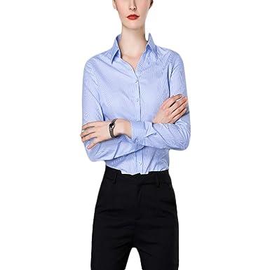 Fiyomet Camisas para Mujer Traje Profesional Vestido Camisa Blusa ...