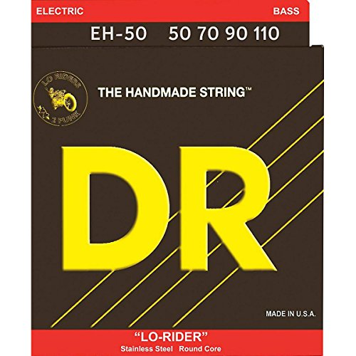 DR Strings Lo-Rider - Stainless Steel Hex Core Bass 50-110