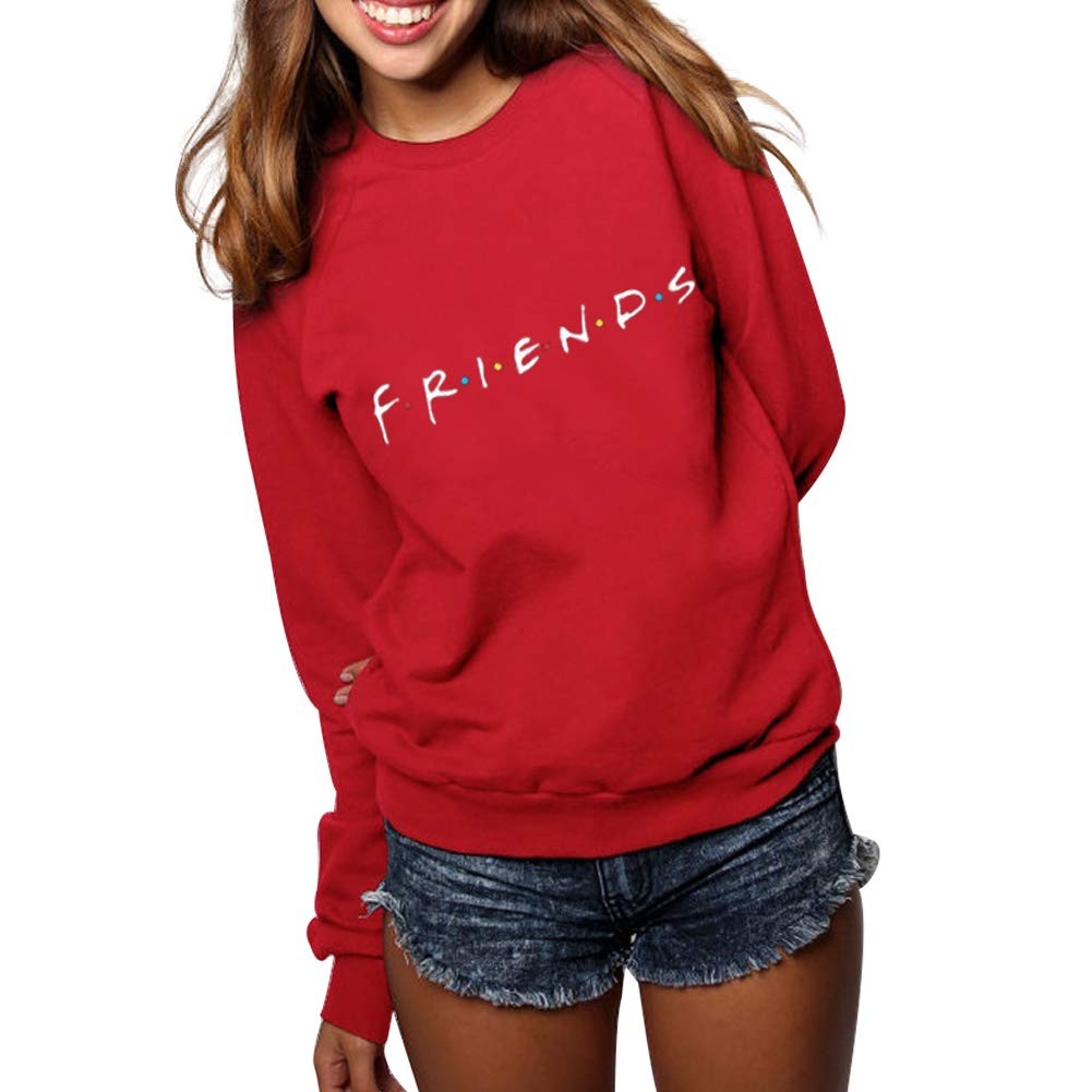 Sudadera Friends Mujer Serie Sin Capucha Casual Pullover Hip Hop Danza Camisetas Mejores Amigas Manga Larga Cuello Redondo Otoño Invierno Primavera para ...