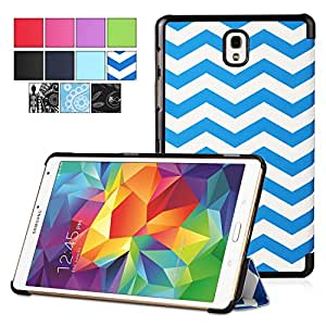 Poetic Samsung Galaxy Tab S 8.4 Case [SLIMLINE Series] - Slim Graphic Folio Case for Samsung Galaxy Tab S 8.4 (SM-T700 / SM-T705) Chevron (3-Year Manufacturer Warranty from Poetic)