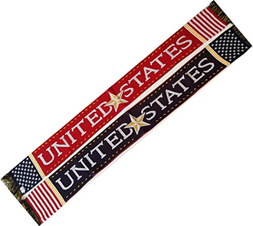 USA Star Knit Scarf - Soccer and Other Sports