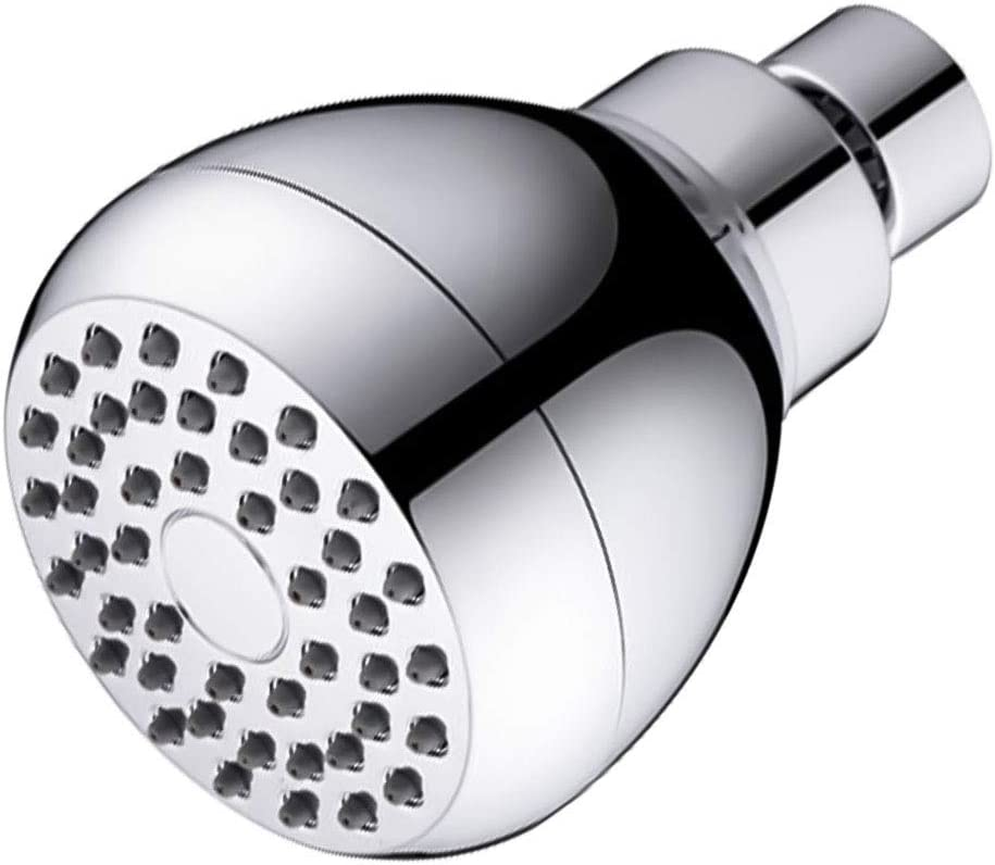 Adjustable Metal Swivel Ball Joint 3 Inch High Pressure Shower Head Anti-Leak Fixed Chrome Showerhead Silver