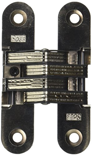 SOSS 216IC Zinc Invisible Spring Closer for 1.375'' Doors, Satin Nickel Exterior Finish by SOSS