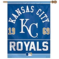 MLB Kansas City Royals Logo/Year Established Vertical Flag, 27 x 37""
