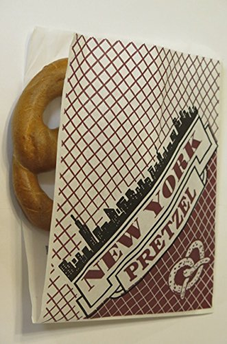 Large Size, 9'' x 7 '' Deli Wrap Double Opendry waxed paper Pretzel Bags - appx. 100/pack]()