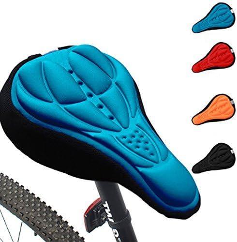 LIOOBO Fahrradsitz Silikon bequemer Ersatz Fahrradsattel atmungsaktiv f/ür Erwachsene Kinder Mountainbikes Rennr/äder blau