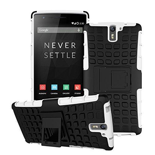 OnePlus One Funda,COOLKE Duro resistente Choque Heavy Duty Case Hybrid Outdoor Cover case Bumper protección Funda Para OnePlus One - verde Blanco