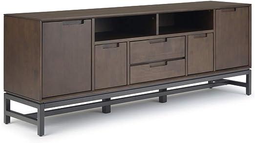 Simpli Home AXCBAN-08 Banting - Mueble de TV para televisores de hasta 80 pulgadas (madera maciza de mediados de siglo, 182,88 cm), color marrón: Amazon.es: Juguetes y juegos